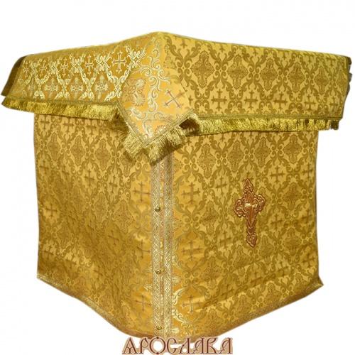 АРТ504. Облачение на престол парча Николаевский, отделка цветной галун.