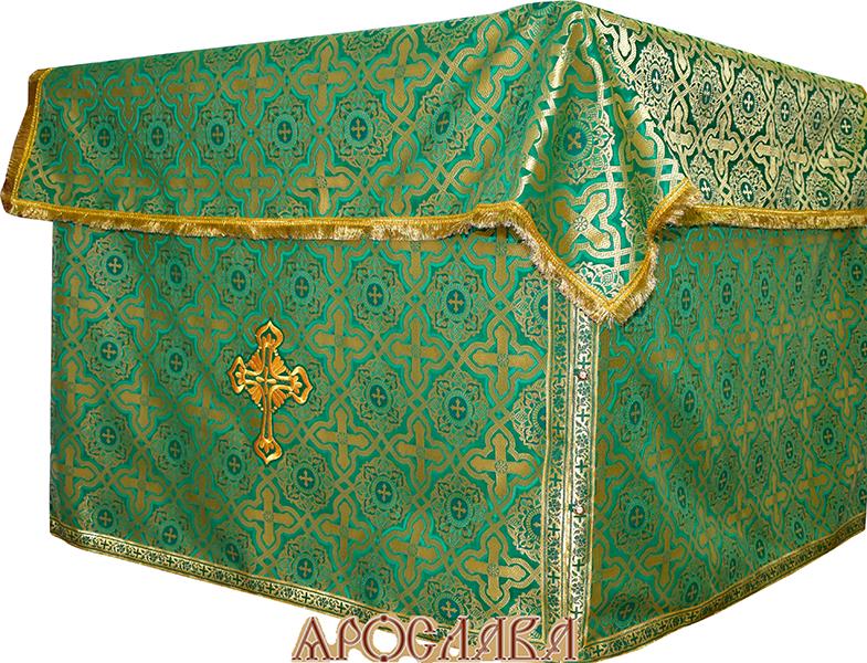 АРТ506. Облачение на престол  шелк Златоуст, отделка цветной галун.
