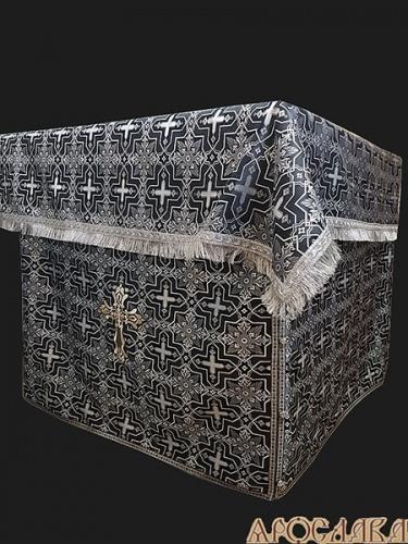 АРТ510. Облачение на престол  шелк Кустодия, отделка цветной галун.