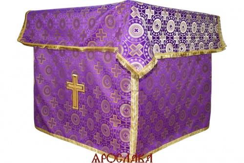 АРТ512. Облачение на престол шелк Мирликийский крест крупный, обыденная отделка.
