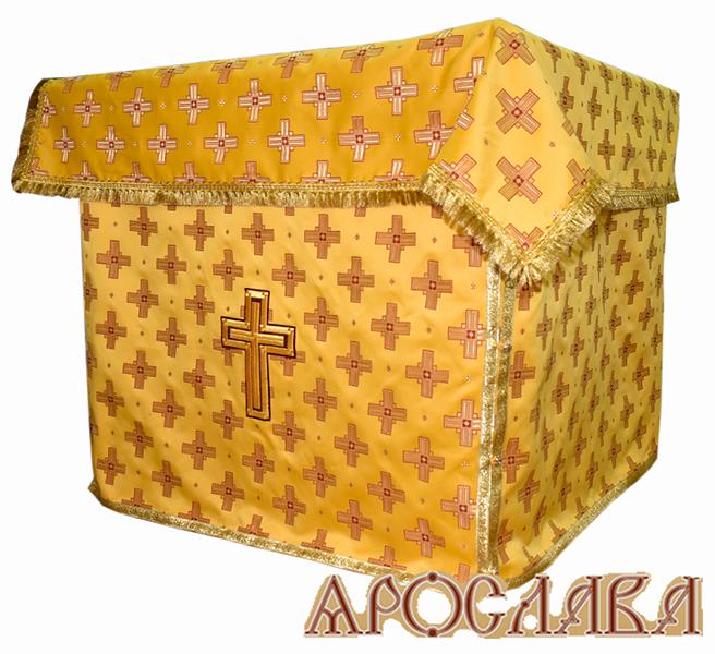 АРТ515. Облачение на престол  шелк Святительский, обыденная отделка.