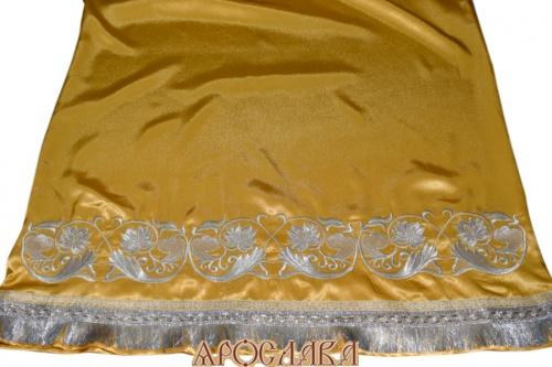 АРТ525. Подризник вышитый рисунок Эдем. Цвет ткани желтый.