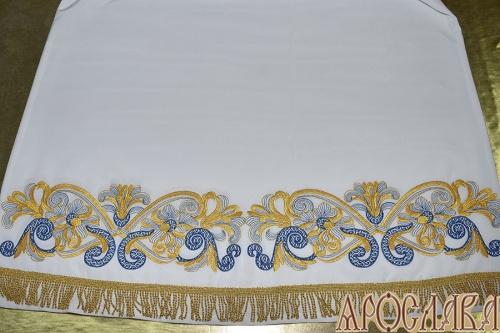 АРТ531. Подризник вышитый рисунок Православный.  Витая бахрома