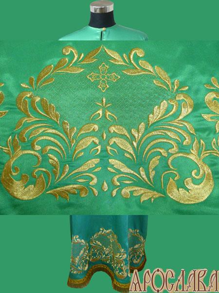 АРТ572. Подризник вышитый рисунок Царский. Ткань зеленая.