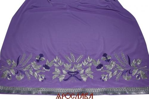 АРТ599. Подризник вышитый рисунок Корнилий. Ткань фиолетовая.