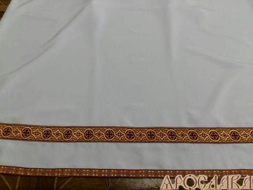 АРТ600. Подризник с отделкой цветным галуном рисунок Орнамент (бордовый с золотом).Ширина галуна 1,7см и 4см.