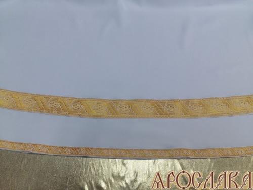 АРТ604. Подризник с отделкой цветным галуном рисунок Дубок (цвет золото). Ширина галуна 1,7см и 4см.