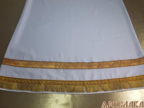 АРТ609. Подризник с отделкой цветным галуном рисунок Дубок (бордовый с золотом). Ширина галуна 4см. С бахромой.
