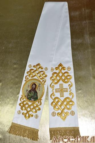 АРТ635. Заклада Евангелие вышитый рисунок Византийский, с вышитой иконой свт.праведного Иоанна Предтеча.