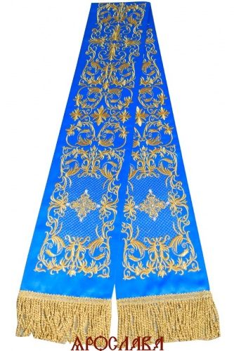 АРТ654. Заклада в Евангелие с вышивкой рисунок Литургия.Кресты расшиты натуральным жемчугом.