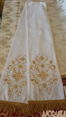АРТ661. Заклада в Евангелие с вышивкой рисунок Лилия вьющаяся.