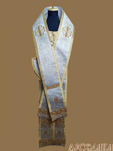 АРТ680. Архиерейский требный набор вышитый рисунок Петровский. Вышитая икона Знамение Божией Матери.