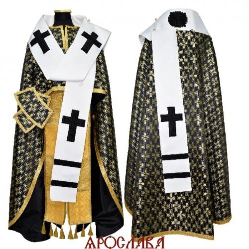 АРТ688. Архиерейское облачение шелк Полтавский крест. Облачение воссоздано по фотографиям греческих фресок.