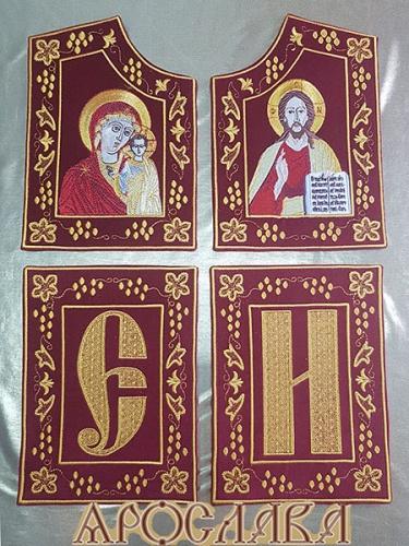 АРТ703. Скрижали вышитые. С иконами Казанская Божия Матерь и Господь Вседержитель.