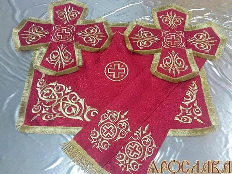 АРТ741. Комплект покровцы с закладой в Евангелие, вышитые Казачий.