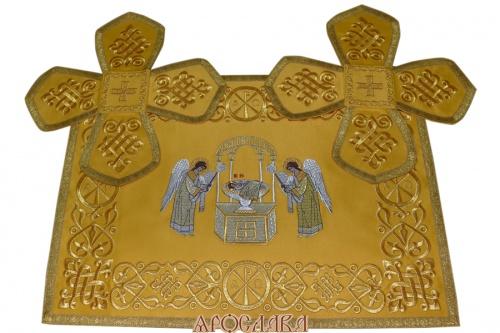 АРТ752. Покровцы вышитые Византийский. С иконой Агнец Божий.