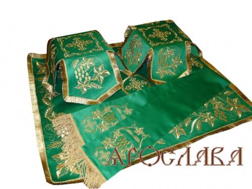 АРТ762. Комплект покровцы и заклада в Евангелие вышитые Плетеный.