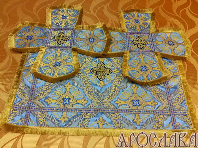 АРТ802. Покровцы греческая парча Халхидон, отделка цветной галун, бахрома.