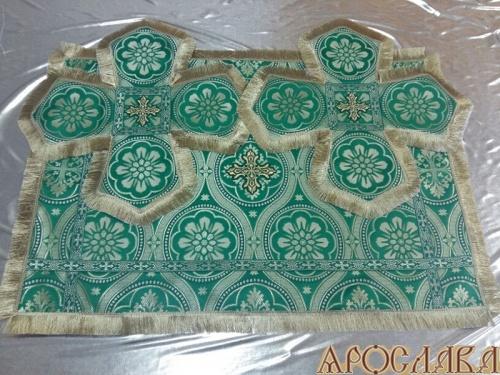 АРТ803. Покровцы шелк Византийские круги, отделка цветной галун, бахрома.