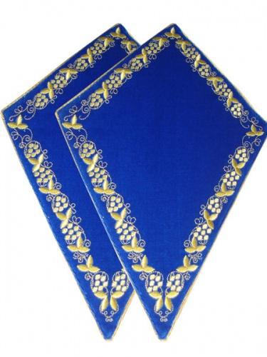 АРТ935. Платы под кресты вышитые Виноград, с кантом в цвет вышивки.