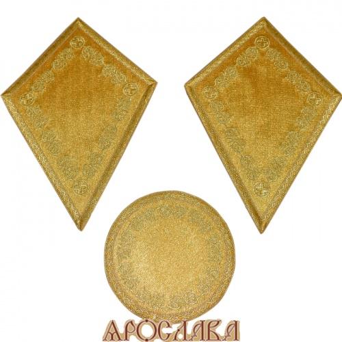АРТ940. Платы под кресты и лампаду вышитые Казачий, с галуном в цвет вышивки.