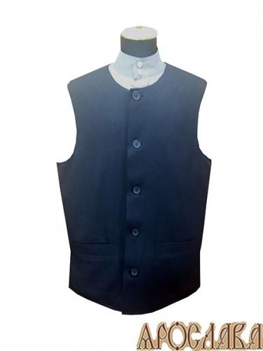 АРТ994. Жилет ткань габардин, утепленный синтепоном, на пуговицах ,два нижних прорезных кармана.