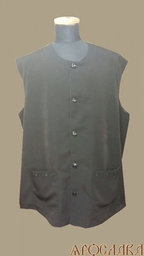 АРТ996. Жилет ткань мокрый шелк, на подкладе, два нижних накладных кармана с вышивкой.