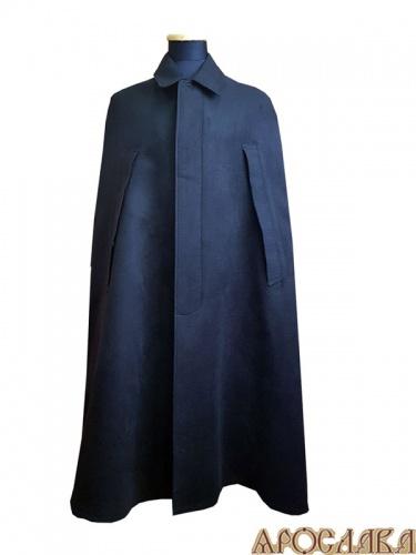 АРТ1002. Пальто-накидка монашеская,без утепления, на подкладе. Ворот стойка, потайная застежка, прорези для рук.