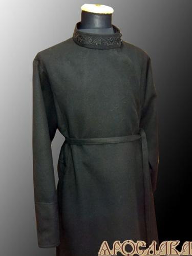 АРТ1146. Подрясник русский, ткань кашемир. Ворот вышитый, внутренний карман, на подкладе.
