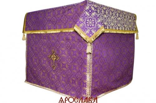 АРТ1258. Облачение на престол парча Василия, отделка цветной галун.