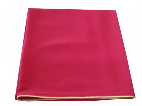 АРТ311.Илитон на престол, с золотым кантом. Ткань бордовый однотонный атласный шелк. Размер 80*70.