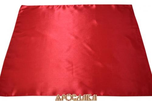 АРТ313.Илитон на престол. Ткань бордовый креп сатин. Размер 80*70.Без канта.